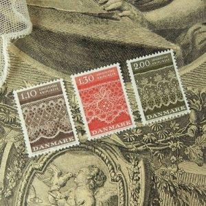 画像1: デンマーク・レース模様の郵便切手