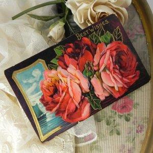 画像3: アンティークカード、薔薇