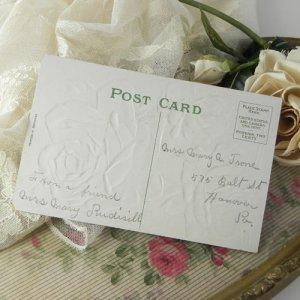 画像5: アンティークカード、薔薇