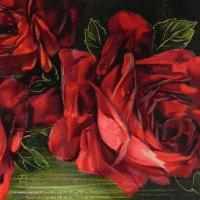 アンティークカード、薔薇