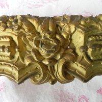 大きな真鍮インテリアパーツ(薔薇)66cmx11cm