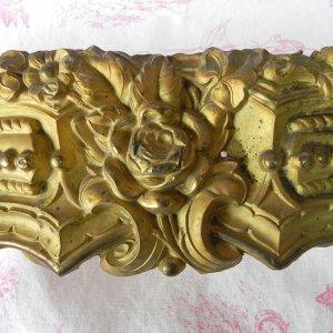 画像1: 大きな真鍮インテリアパーツ(薔薇)66cmx11cm