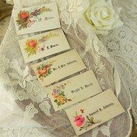 コーリングカード5枚、鳥や薔薇のセット