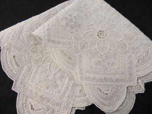 画像2: 白刺繍・ホワイトワーク・ハンキー