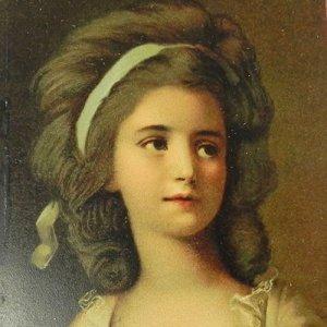 画像1: ロココ貴婦人のポートレート・ポストカード