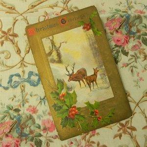 画像2: クリスマスカード、トナカイの親子