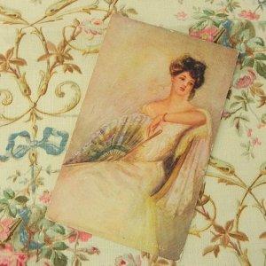 画像2: ポストカード、レディポートレート