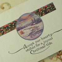 クリスマスカード、宿り木
