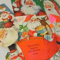 USA★ヴィンテージ・クリスマスカード大小8枚(B)