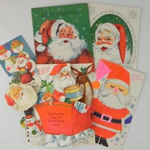 画像2: USA★ヴィンテージ・クリスマスカード大小8枚(B)