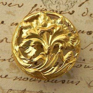 画像1: フランス、アールヌーヴォー真鍮ボタン