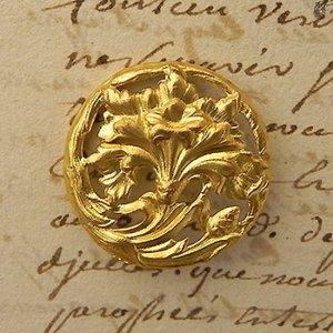 画像3: フランス、アールヌーヴォー真鍮ボタン