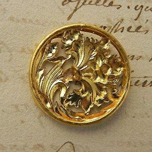 画像5: フランス、アールヌーヴォー真鍮ボタン