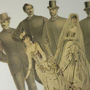 画像1: 1800年代、ヴィクトリアン・エングレーヴィング(銅板画)スクラップ
