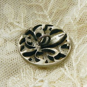 画像5: fleur de lis 銀製ボタン
