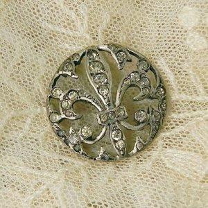 画像3: fleur de lis 銀製ボタン