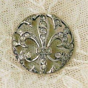 画像1: fleur de lis 銀製ボタン