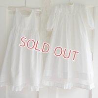 【2枚組】イギリス、ベビー洗礼式用ドレス&スリップ