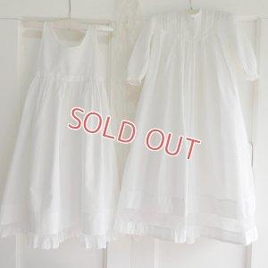 画像1: 【2枚組】イギリス、ベビー洗礼式用ドレス&スリップ