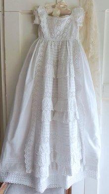 他の写真1: 【2枚組】イギリス、ヴィクトリアン・ベビー洗礼式用ドレス&スリップ