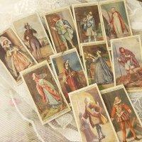 イギリス、各時代毎の衣装シリーズ、シガレットカード11枚セット(D)