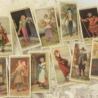 イギリス、各時代毎の衣装シリーズ、シガレットカード11枚セット(A)