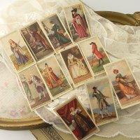 イギリス、各時代毎の衣装シリーズ、シガレットカード11枚セット(C)