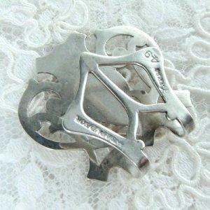 画像3: 銀製ナプキンリング、モノグラム入り