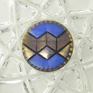 画像1: アールデコ・ガラスボタン