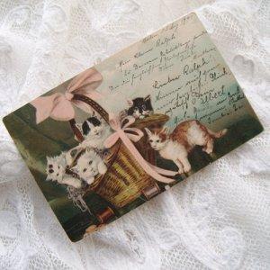 画像4: ポストカード、バスケットにいっぱいの子猫