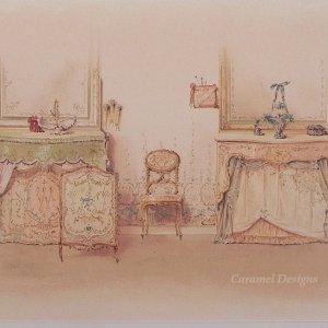 画像1: 1800年代、ドイツ製プリント画 インテリア・テキスタイル・デザイン