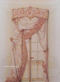 1800年代、ドイツ製プリント画 インテリア・テキスタイル・デザイン
