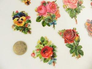 画像3: 1800年代、ヴィクトリアン・クロモス【薔薇&パンジー】11枚