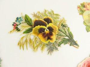 画像4: 1800年代、ヴィクトリアン・クロモス【薔薇&パンジー】11枚