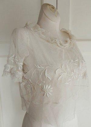 画像2: フランス、手刺繍とドレスパーツ(トップ)