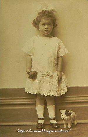 画像1: 少女のポートレートフォト
