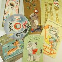 USA★ヴィンテージ猫カード7枚