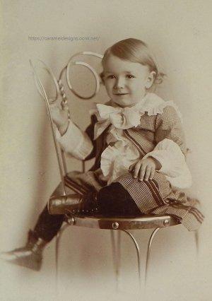 画像1: ヴィクトリアン、ポートレートフォト(写真)男の子