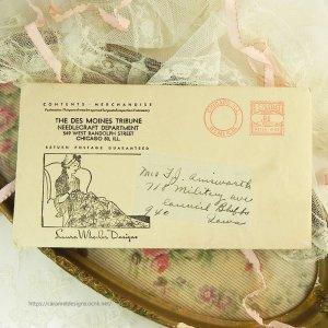 画像2: USA ヴィンテージ・刺繍入りエプロン型紙 未使用