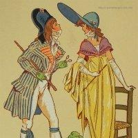 【フランス・1700終わり〜1800年代初め頃のファッション】ポストカード