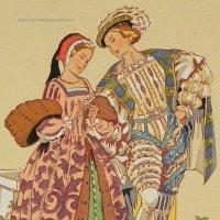 【フランス・フランソワ1世時代のファッション】ポストカード