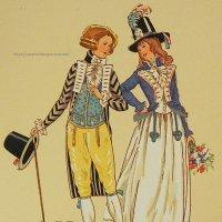 【フランス・革命時前後のファッション】ポストカード