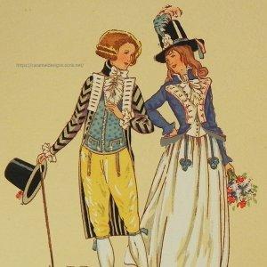 画像1: 【フランス・革命時前後のファッション】ポストカード