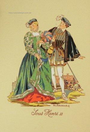 画像2: 【フランス・アンリ2世時代のファッション】ポストカード