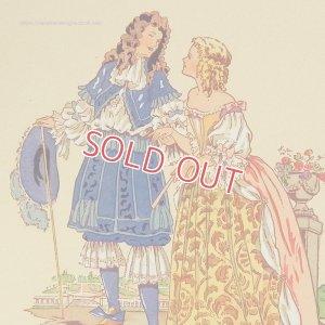 画像1: 【フランス・ルイ14世時代のファッション】ポストカード