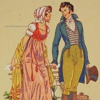 【フランス・第一帝政時代のファッション】ポストカード