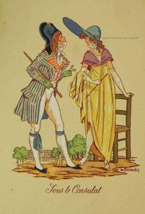画像2: 【フランス・1700終わり〜1800年代初め頃のファッション】ポストカード