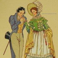 【フランス・ルイ18世時代のファッション】ポストカード