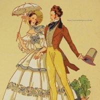【フランス・1800年代前半〜のファッション】ポストカード