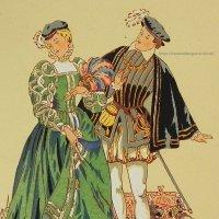 【フランス・アンリ2世時代のファッション】ポストカード